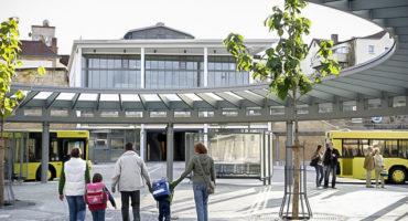 Zentrale Omnibushaltestelle © Stadt Bayreuth