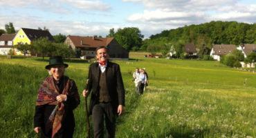 Jean Paul Weg Wanderung mit Landrat Hübner © Regionalmanagement Bayreuth