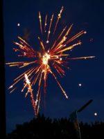 Feuerwerk am Volksfest