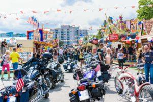 Motorradparade zum American Day