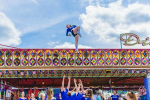 Cheerleader Auftritt beim American Day
