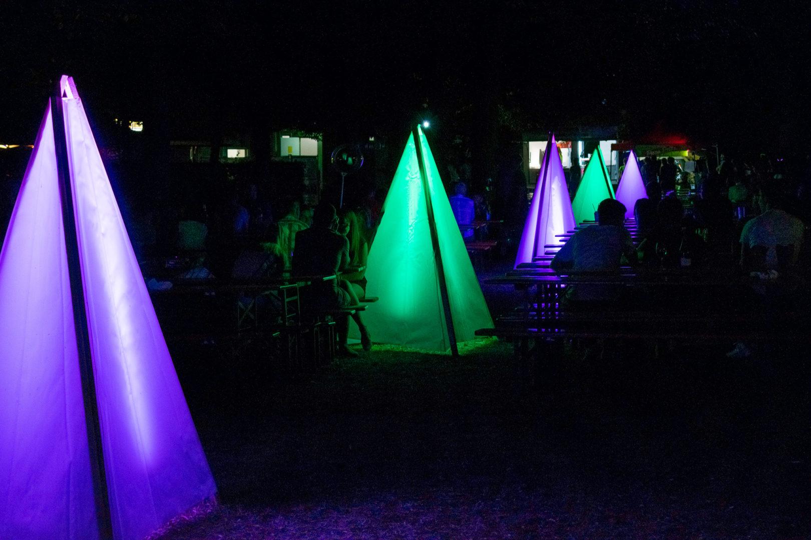 Illuminationen im Park der Eremitage