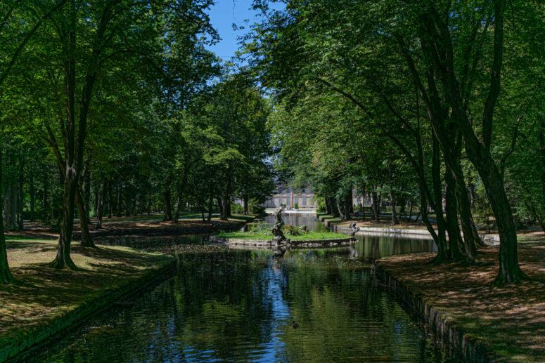 Selfie-Spot im Hofgarten mit Blick auf das Neue Schloss