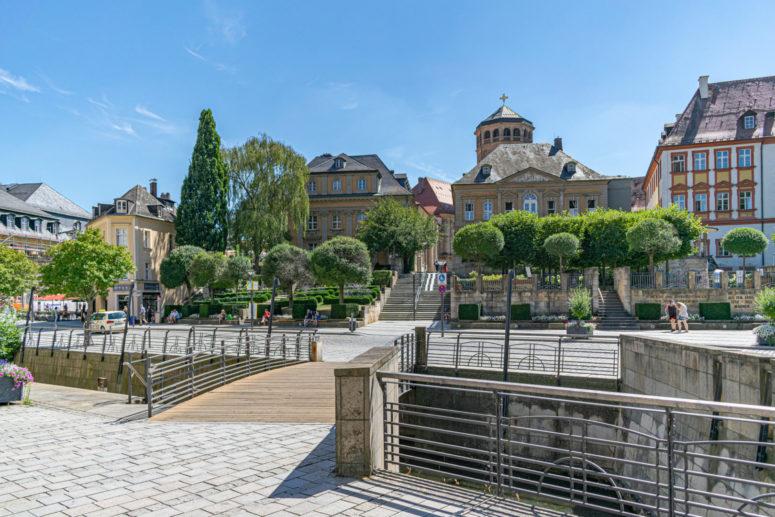 Selfie-Spot Klassische Bayreuth Ansicht mit Schlossturm