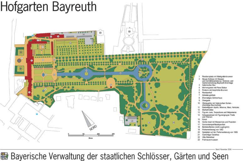 Hofgarten Lageplan