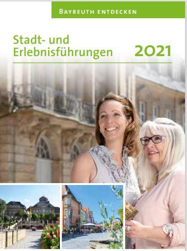 Flyer zu Stadt- und Erlebnisführungen 2021
