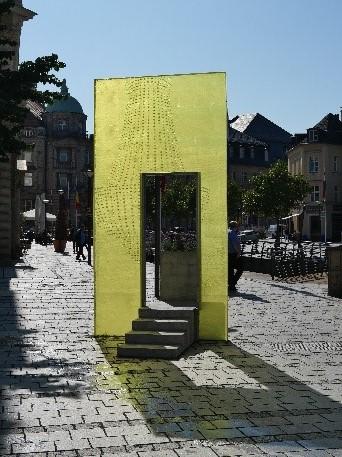 Gießherzplatte am Luitpoldplatz