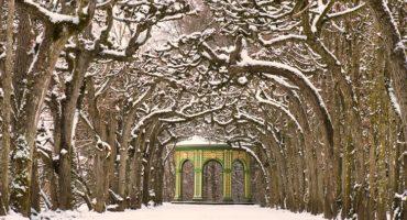 Laubengang der Eremitage im Winter