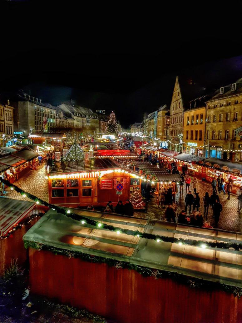 Bayreuther Christkindlesmarkt von oben